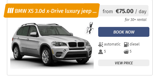 BMW X5 3.0d x-Drive luxury car rental in Sofia