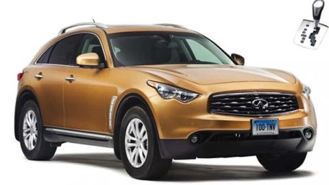 Infiniti QX70 luxury SUV for rent in Sofia