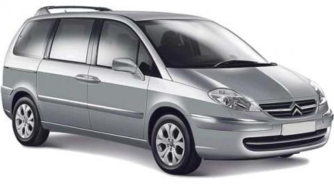 Citroen C8 seven seats minivan for rent in Sofia